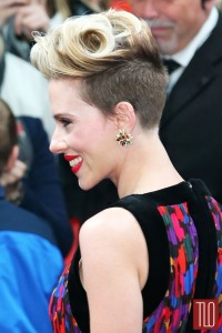Scarlett Johansson showcased her new short do